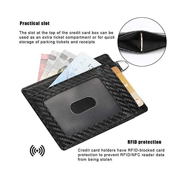 flintronic Portia Carte di Credito e Tasche Pelle, RFID/NFC Blocco Portafoglo, (1 Scomparto Con Cerniera, 6 Slot Per… 9 spesavip