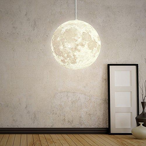 W-BRILLIGHT Pendelleuchte Mond Hängeleuchte PLA Moon Pendelleuchten Industrielle Deco lampe...