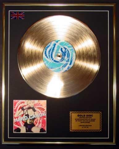 MADONNA/Goldene Schallplatte Record Limitierte Edition/HARD CANDY