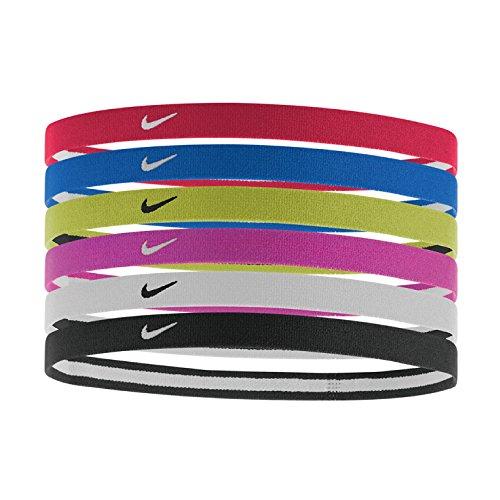 Nike Erwachsene Swoosh Stirnband, University Red/Game Royal/Volt, OSFM Nike Swoosh Stirnband