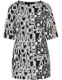 cd22f1f01cb024 PAPRIKA Damen große Größen Kleid in entspannter Passform mit  Buchstaben-Print