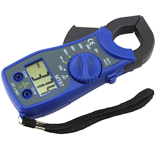 UEETEK MT87 Digital Multimeter Amper Clamp Meter Stromzange Pinzette AC / DC Stromspannung Tester Azul (Clamp Dc)