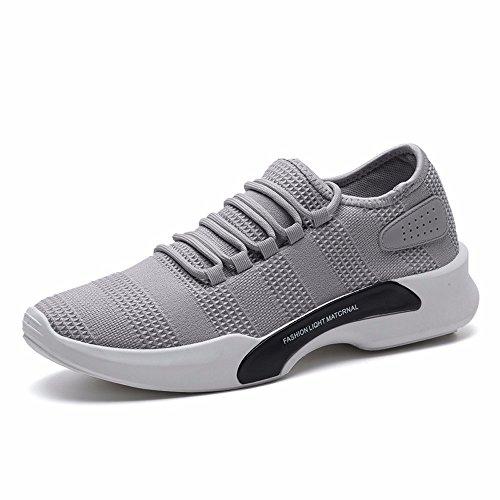Chaussures Hommes Chaussures D'été Hommes Blanc Loisirs Chaussures De Sport Léger Chaussures De Course Corée Version Hundred De Grey Fashion