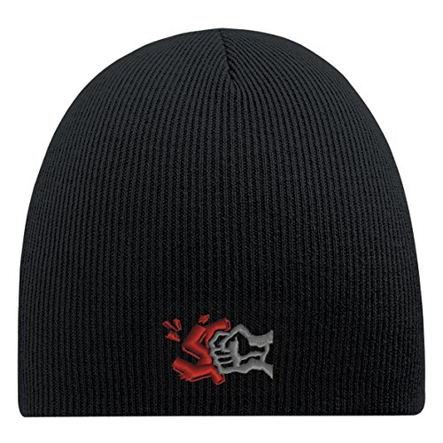 Beanie-Mütze mit Einstickung – Gegem Nazis - 54836 Schwarz