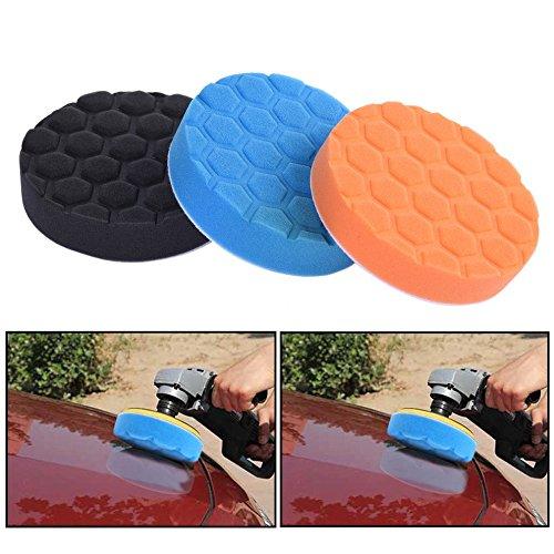 somstyle (TM) 3/Set 3/4/5/6/17,8cm Waschen Ausrüstung Bürste Polieren Schwamm Polieren Pad Kit Set für Auto Polierer Puffer Tücher Pinsel, 7 Inch