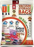 DIBAG ® 10 VACUUM COMPRESSED STORAGE SAVING SPACE SAVER BAGS. 5 Bags: 130x74 cm + 5 Bags: 86x50 cm