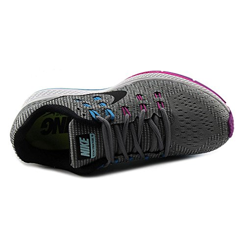 Nike - Wmns Air Zoom Structure 19 (W), Scarpe da corsa Donna Gris (Cool Grey / Black-Fuchsia Flash)