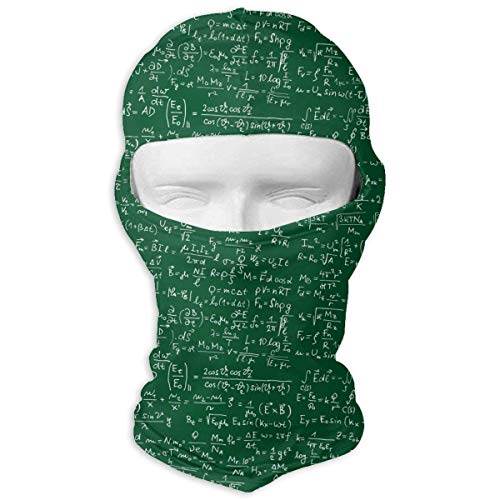 Xukmefat Outdoor Motorcycle Full Face Mask Math Equations Balaclava Hood Skullies White