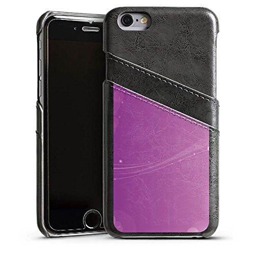 Apple iPhone 5s Housse Étui Protection Coque Lumière Motif Motif Étui en cuir gris