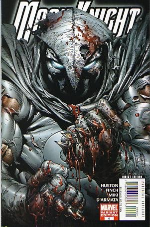 David Finch Cover (Moon Knight Vol. 4 # 6 (Bloody Variant Cover))