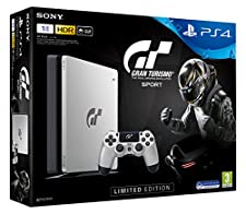 PS4 Slim 1To - Edition Limitée Silver -  Gran Turismo Sport
