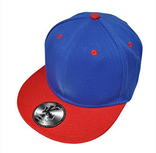 Caquette de Baseball Réglable 2 couleur Bleu & Rouge (Blue / Red Snapback)