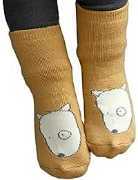 K-youth® Bebé Niños Niñas Cabeza de zorro patrón Calcetines calientes antideslizantes