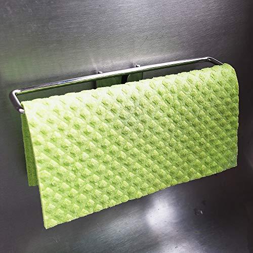 The Crown Choice Beste Caddy für Kitchen Sink Edelstahl Nein Absaug Dishcloth Aufhänger Trockner für Waschlappen Schwedisch Tücher Nicht magnetisch.Verwendet Abnehmbare Adhesive (Spültuch Halter) Ges -