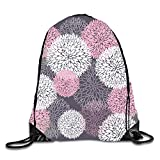 gthytjhv Enjoyful Skull Sackpack Drawstring Backpack Waterproof Gymsack Daypack for Men Women Flower Firework5 Lightweight Unique 16.9x14.2