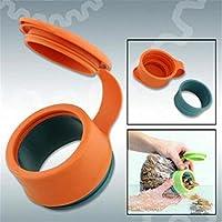 JERN Plastic Orange Food Kitchen Storage Preserve Sealing Bag Cap