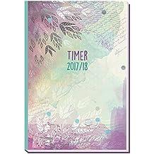 Schülerkalender POETRY 2017/2018 - Schulplaner 17/18 - 1 Woche auf 2 Seiten, A5