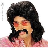 Photo de Générique - Pe760 - Perruque Années 70 avec Moustaches - Taille Unique par