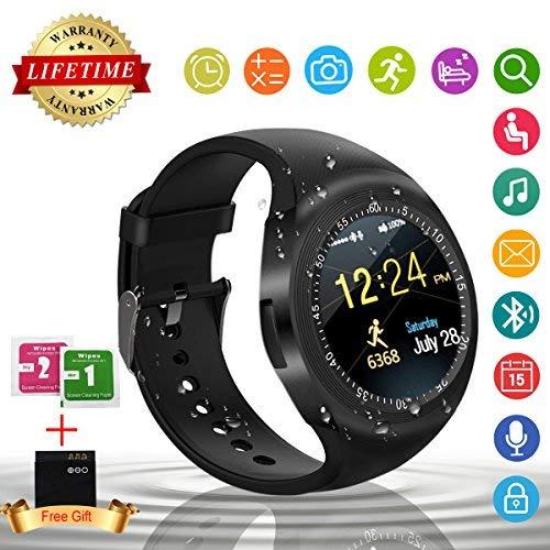 Smart Watch,Tel¨¦fonos Inteligentes Reloj Inteligente Bluetooth Smart Watch Reloj Inteligente Hombre Mujer Ni?o Reloj Deportivo Con C¨¢mara Soporte SIM / TF para Android/IOS