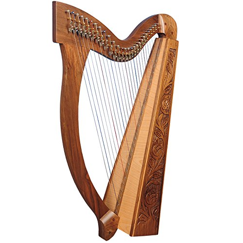 27 String Trinity Harp, Lever Harp, Irish Harp, Celtic Harp with Levers  With Accessories and Nylon Gig Bag