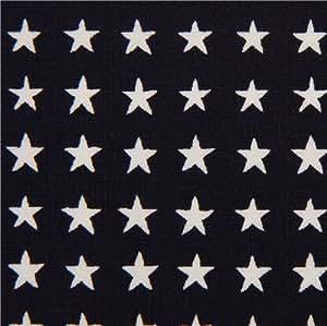 Tissu Alexander Henry bleu marine avec des étoiles (par 0,5 m multiples)