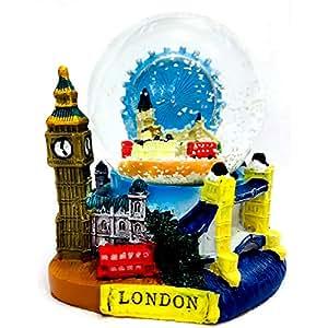 Snow Globes 1094 Boule à neige 3D illustrant les principaux monuments de Londres Taille moyenne