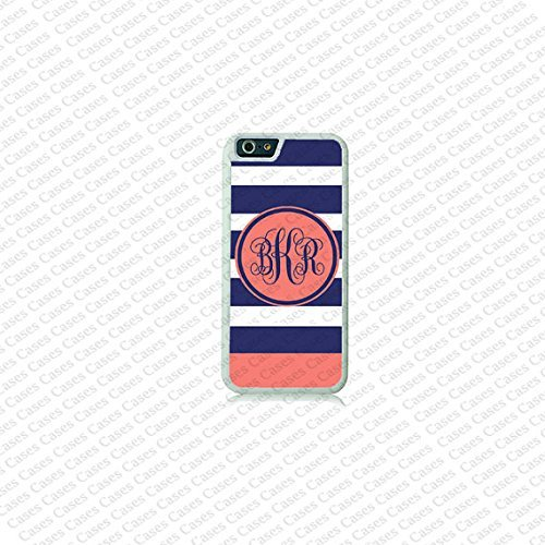 Krezy Case Stripe Pattern Monogram iPhone 6 Plus Case, Monogram iPhone 6 Plus Cover, Custom iPhone 6 5.5 inch Cases, Cute monogram iPhone 6 Plus Case