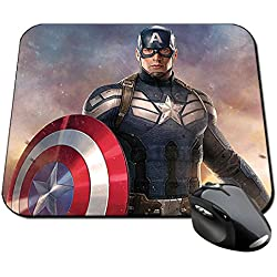 Capitan America Captain America Chris Evans E Alfombrilla Mousepad PC
