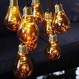 netproshop LED Lichterkette Glühbirne aus Glas Retro Design 10 Lichter Indoor Auswahl, Auswahl:orange