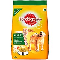 PedigreeMilk & Vegetables, Dry Dog Food for Adult Dogs (Labradors, GSD, Pugs & others), 1.2Kg