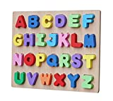 #5: Toyshine Premium Wooden English Capital Letters Puzzle Toy, Educational and Learning Toy - ABC