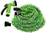 #10: 50 Feet Expandable Garden Hose & Spray Nozzle Combo, Garden Pipe, Magic Hose (Green)