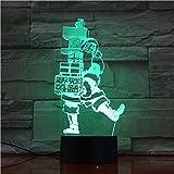 WangZJ 3d Illusion Lampe/bunte Note Nachtlicht/Schlafzimmer Dekoration/Nachtlicht Baby Kind Geschenke / 3d Tischlampe/Weihnachten