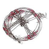 Gazechimp 10x Líderes de Pesca de Hilandero Herramienta de Aparejo de Pesca de Mar Cable de Acero de 70 cm