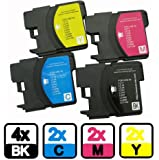 AA+inks Compatible Ink Cartridges Replacement for Brother LC980 LC1100 for DCP 375CW 195C 145C 197C (10PK)