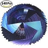 Origami Papier Set, Origami Papier 140Blatt Beautiful Sky Premium Qualität für Kunst und Handwerk (Sky Papier 15,2x 15,2cm)