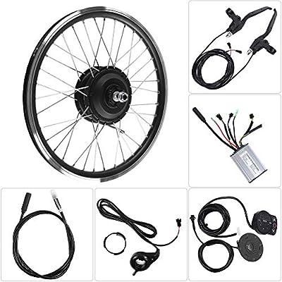 Focket E-Bike Umbausatz,700C Rad 36V/48V 350W Höchstgeschwindigkeit 28km/h Motor Elektro-Fahrradmotor-Kits Leistungsstarker Controller-Satz mit KT900S LED-Anzeige für Rennrad