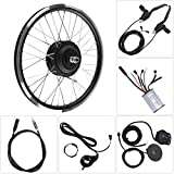 Bnineteenteam Kit Ruota Bicicletta elettrica 24V 250W, Display a LED Kit Ruota Anteriore e...
