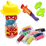 #6: Akhand Clay for Kids to play with 10 color sticks and 2 Moulds