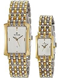 Titan Bandhan Analog White Dial Couple's Watch -NK19272927BM01