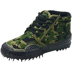 Dooxi Hombre Ocasionales Lona Zapatos Al Aire Libre Antideslizante Formación Zapatillas Militar Tactical Botas de Combate
