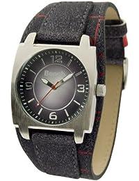 Bench BC0182BKBL - Reloj de caballero de cuarzo, correa de plástico color azul claro