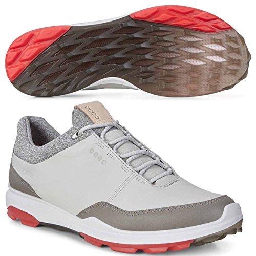 Ecco Golf 2018 Biom Hybrid 3 Gore-Tex Waterproof Yak Leather Lightweight Mens Golf Shoes [White/Kiwi, EU 46= - Golf Ecco Hybrid Biom