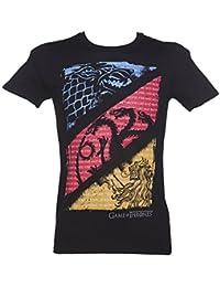 Trademark Juego Negro de los Hombres de Tronos Casas y Citas t Shirt