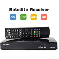 OVERBOX Freesat Satélite Receptor Digital Decodificador V8 M9S DVB-S2 Satellite Receiver, Full HD 1080P Freeview FTA Canals Receptor de TV