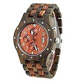VOLORE Holzuhr Damen Holzuhren Armbanduhr für Herren Analoge Quarz Holz Armbanduhr Quarz Holzuhr Uhren Herren Damen Armbanduhr aus Naturholz