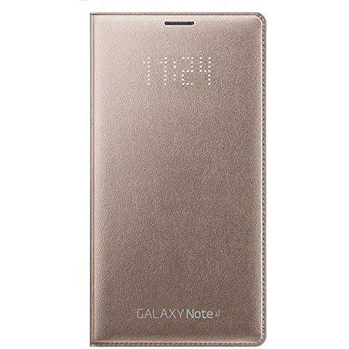 Samsung LED Folio Flip Wallet Schutzhülle Cover Case für Galaxy Note 4 - Bronze Gold