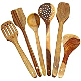 Ck Handicrafts Pure Sheeshan Wood Kitchen Utensil Non Stick Serving Spoon Set Of 6