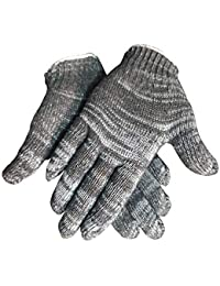 blacktail Unisex 40 GSM Cotton Knitted Safety Hand Gloves , Grey -2 Pair
