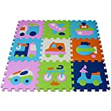 """'KNORRTOYS 21007–Tapis Tapis Puzzle–""""Véhicules 9(71pièces)"""